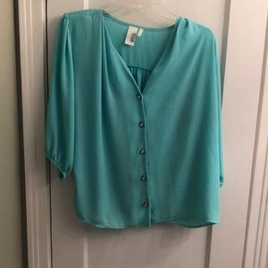 Tops - Francesca's teal top